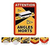 reflecto Hinweisschild 'Angles Morts' | 5 Anbringungsarten | LKW oder Bus-Motiv | entspricht...