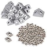 100 pcs T Muttern M5 T Nutmuttern Hammerkopf Befestigungsmutter Sortiment Kit für Aluminiumprofil...