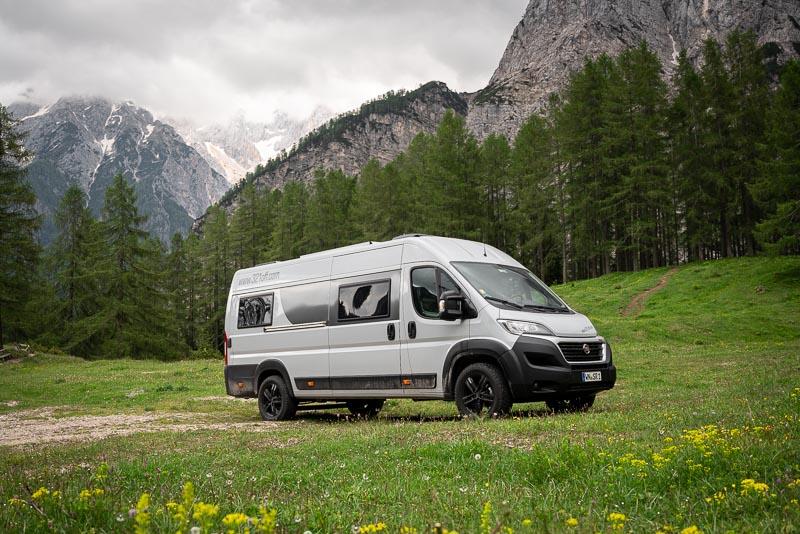 Wohnmobil-Basis: Kastenwagen Fiat Ducato 160 PS Diesel, Handschaltung, Pössl Summit 640