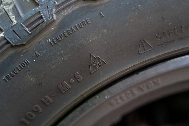 Wintertauglichkeit Symbol auf einem Reifen